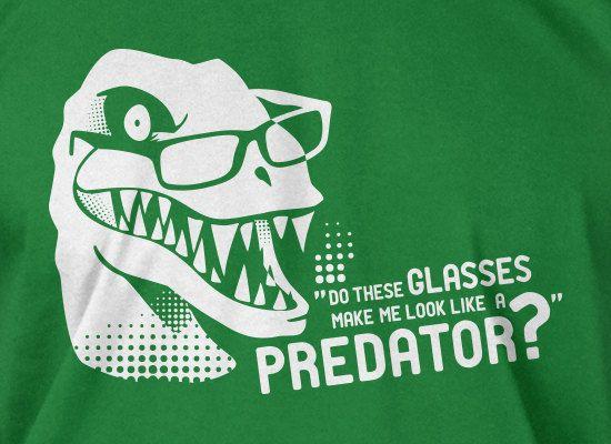 10bc946a Funny Dinosaur T-Shirt Do These Glasses Make Me Look Like A Predator T-Shirt  Trex T-Shirt Velociraptor Tee Shirt T Shirt Mens Ladies Womens
