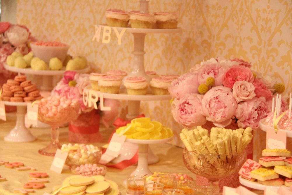 Pink and Yellow Dessert Bar