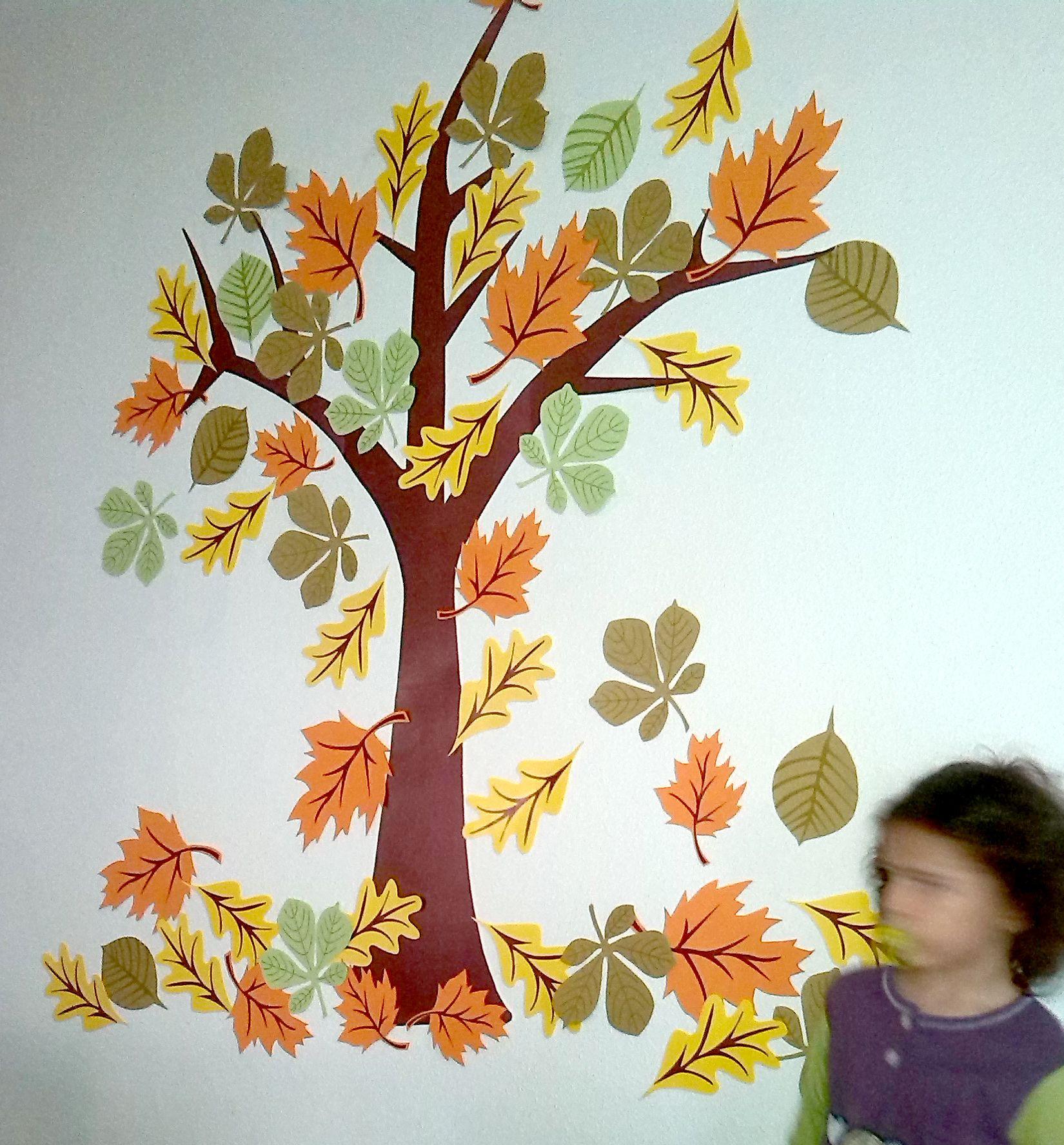 Decoracion infantil de oto o hojas de cartulina decoracion pinterest frame crafts and craft - Hojas de otono para decorar ...