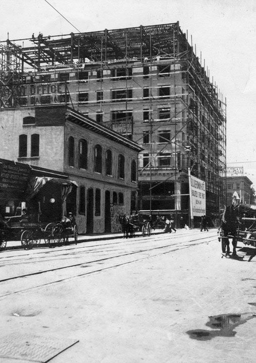 Los Angeles Alexandria Hotel Under Construction In 1905 Lapl Los Angeles Hotels Alexandria Hotel Vintage Los Angeles