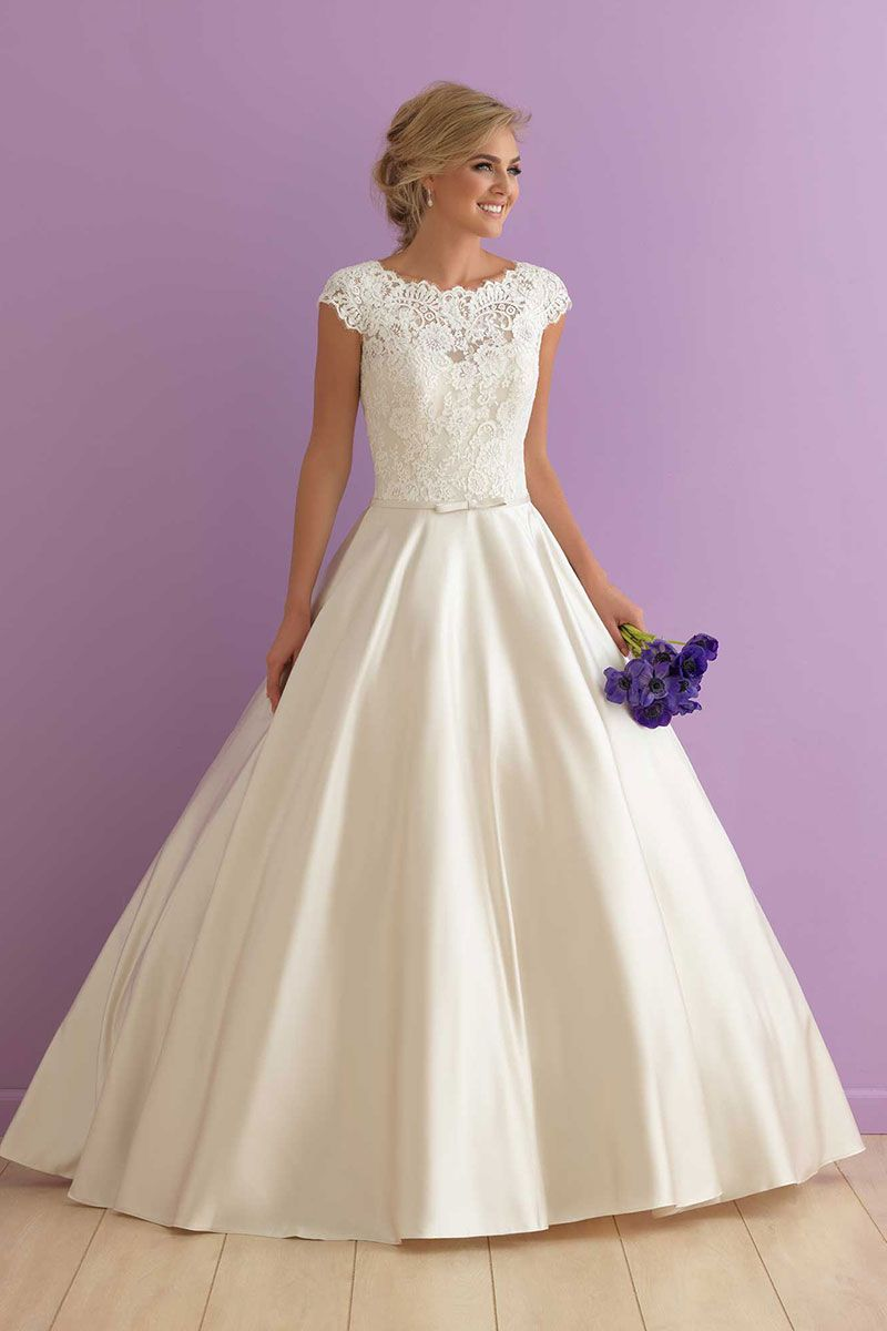 Allure bridals randi fit for royalty this cap sleeved ballgown