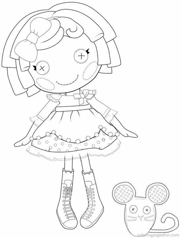 lalaloopsy coloring pages 9 - Lalaloopsy Coloring Pages