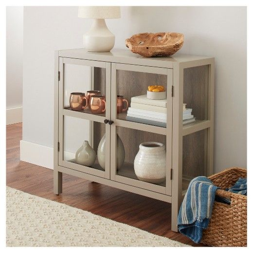 Keep Your Home Orderly And Organized With This Vista Two Door Accent Cabinet From Threshold This Cabinet Is A Wonderfully In 2020 Accent Cabinet Accent Doors Cabinet