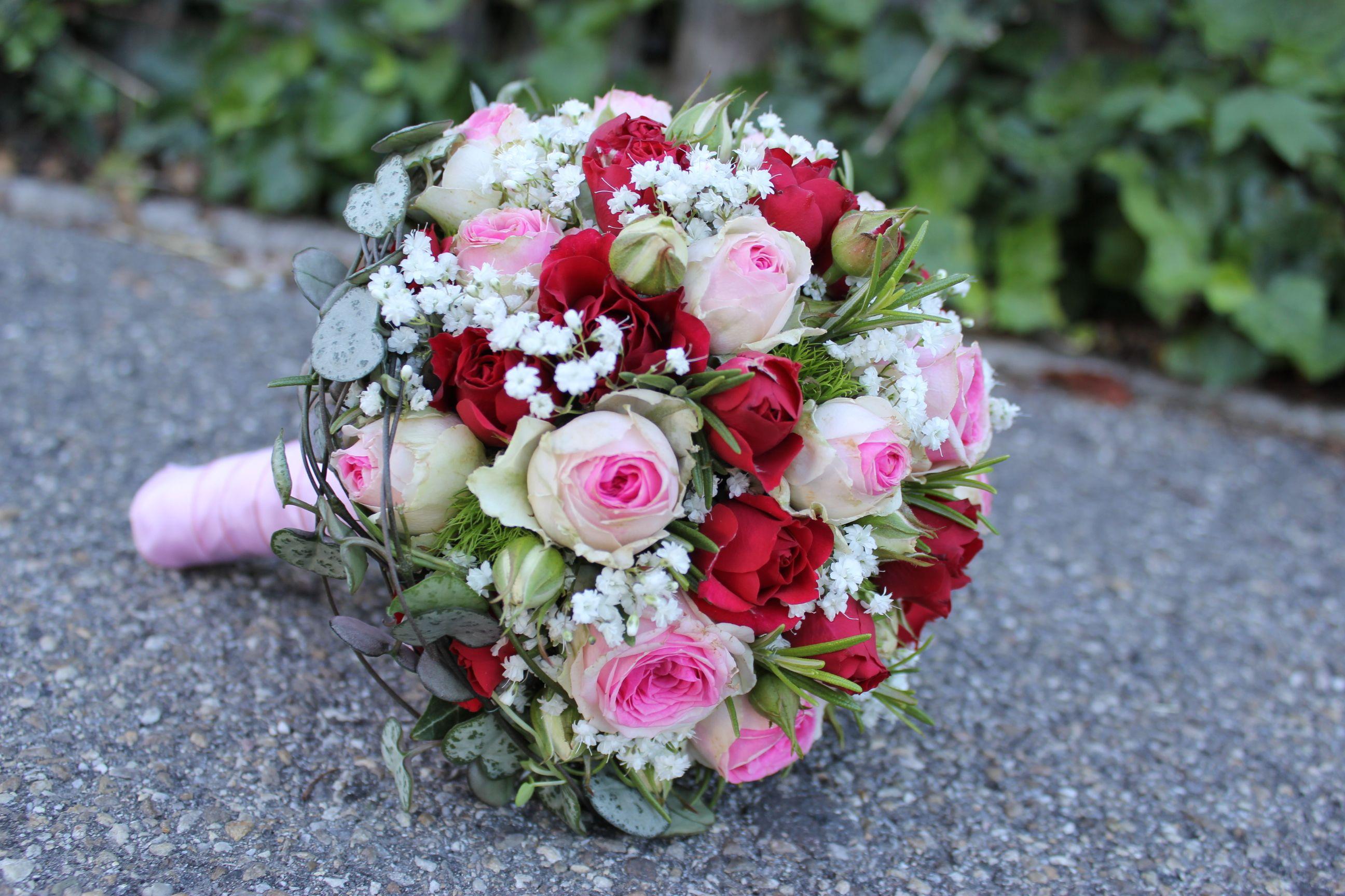 Brautstrauss rosa rot  Brautstrusse fr Hochzeitfeste