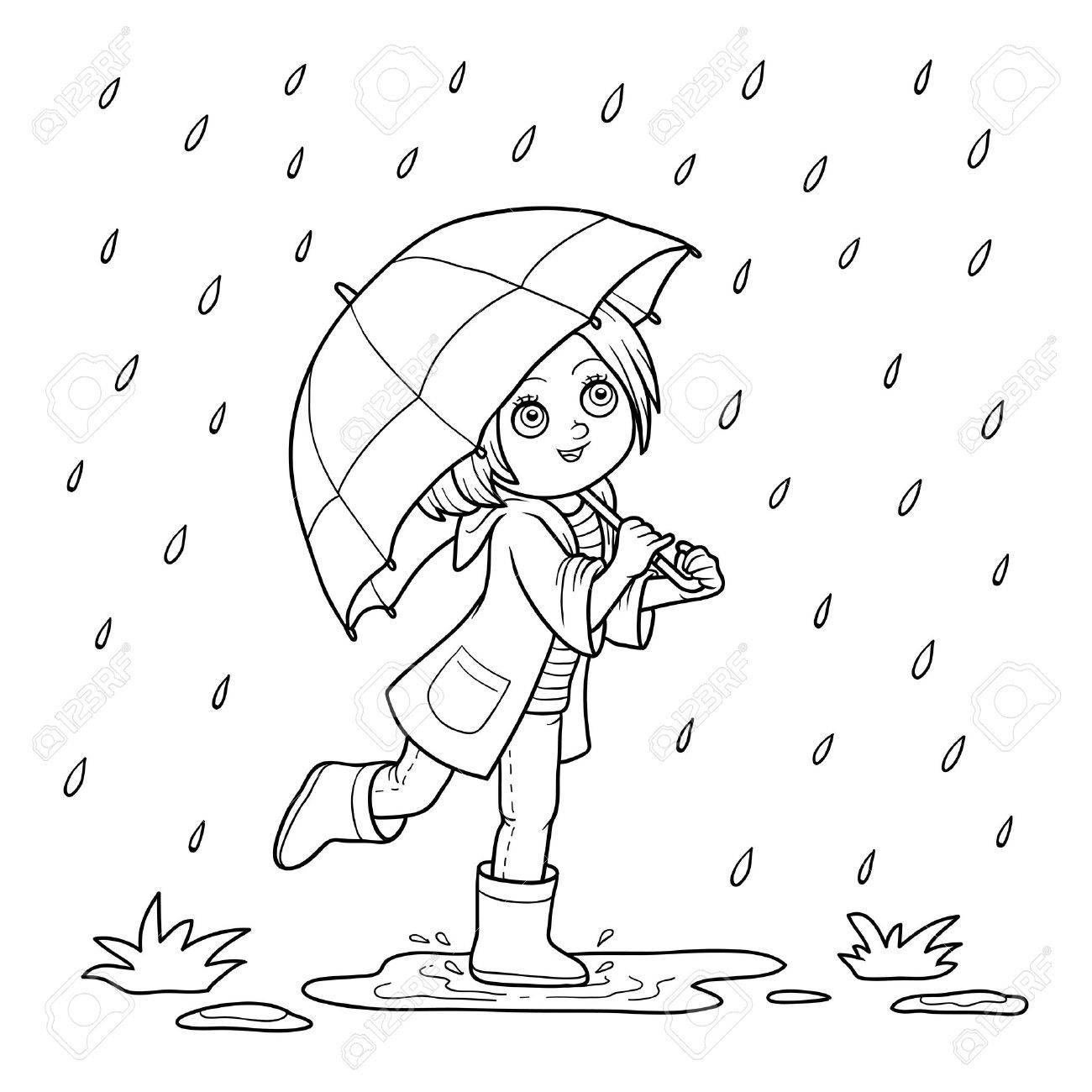 18++ Rain coloring pages for toddlers info