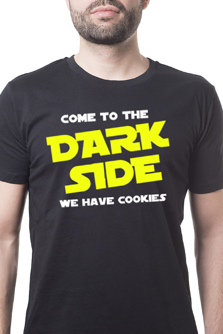 434251951 Come to the Dark Side! | Tee Shirt Galaxy - Custom Sports Tees and Mugs  Star Wars The Dark Side Cookies Funny Shirt Darth Vader #Starwars  #DarthVader # ...