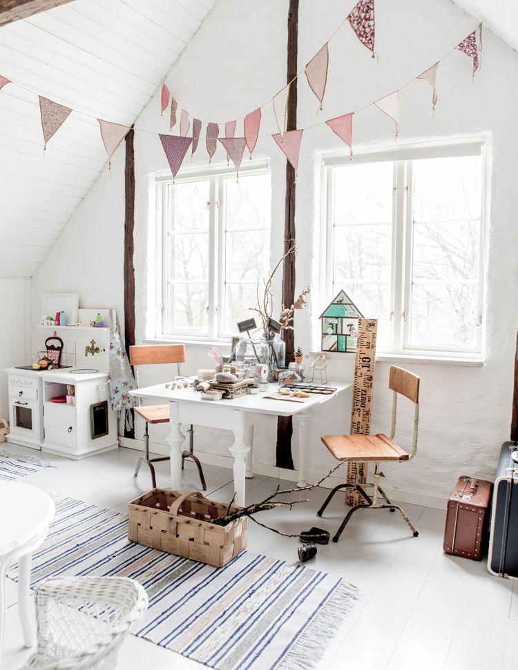 Kids Bedroom, Romantic, Vintage, Scandinavian, Interior | Casa ...