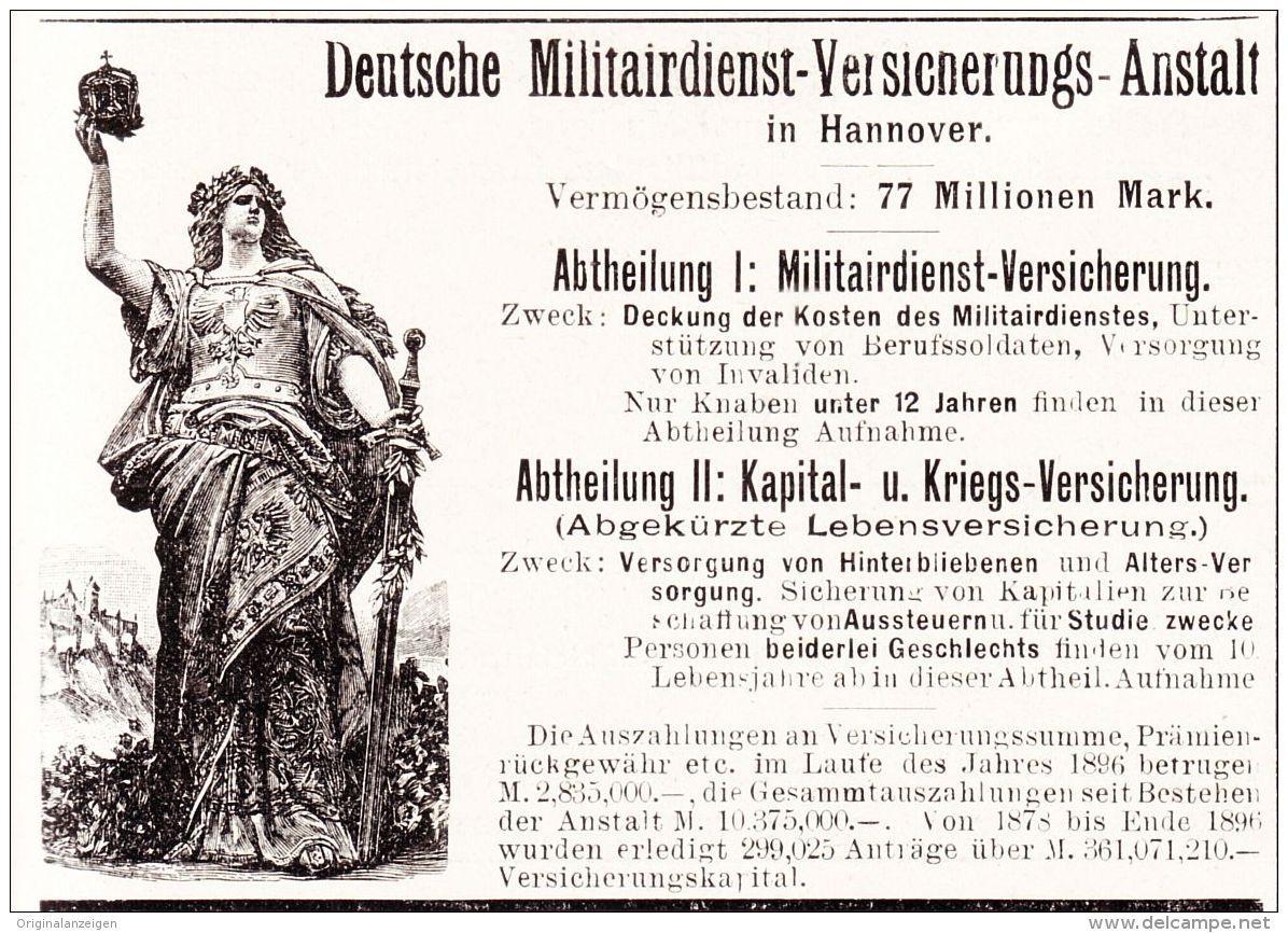 OriginalWerbung/Anzeige 1898 MILITÄR / DEUTSCHE