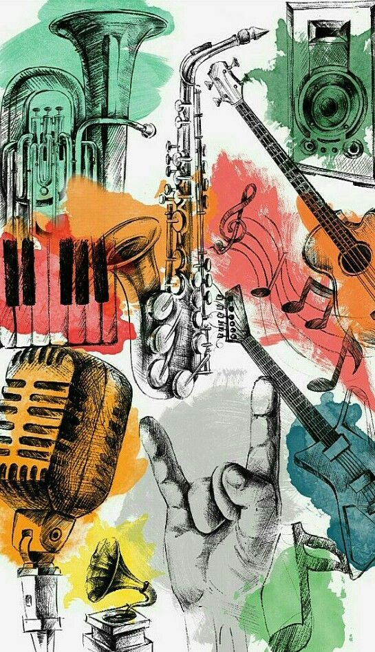 Wallpaper For Android Iphone Graffiti Wall Music Guitar Piano