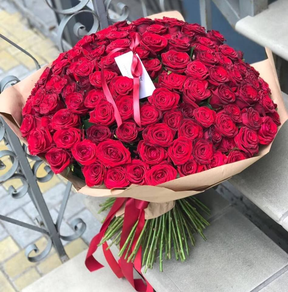Большой букет 101 розы одесса