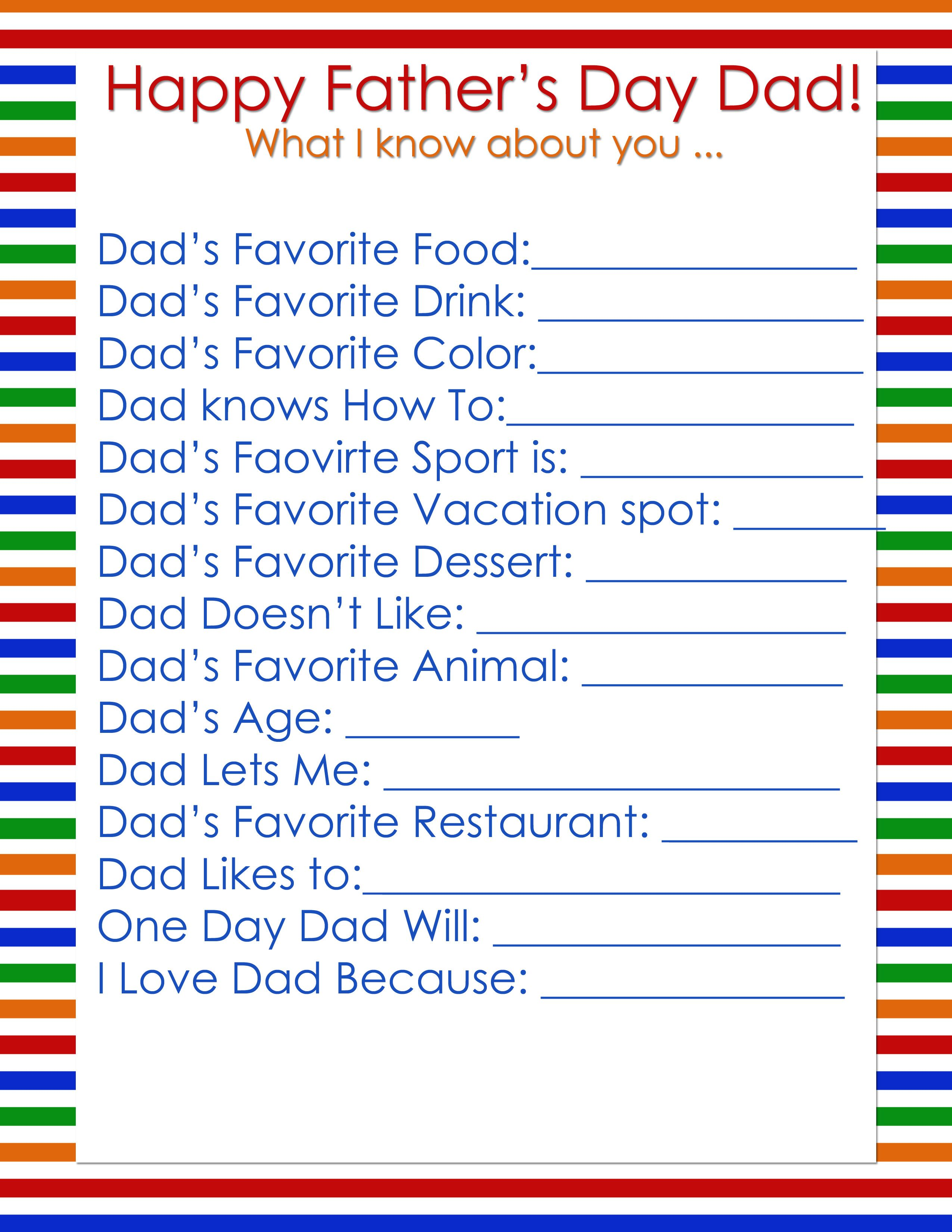 Father S Day Questions