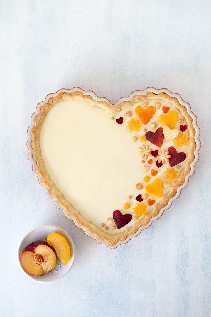Peach and White Chocolate Tart - The Sweet Rebellion - cake amp pies -
