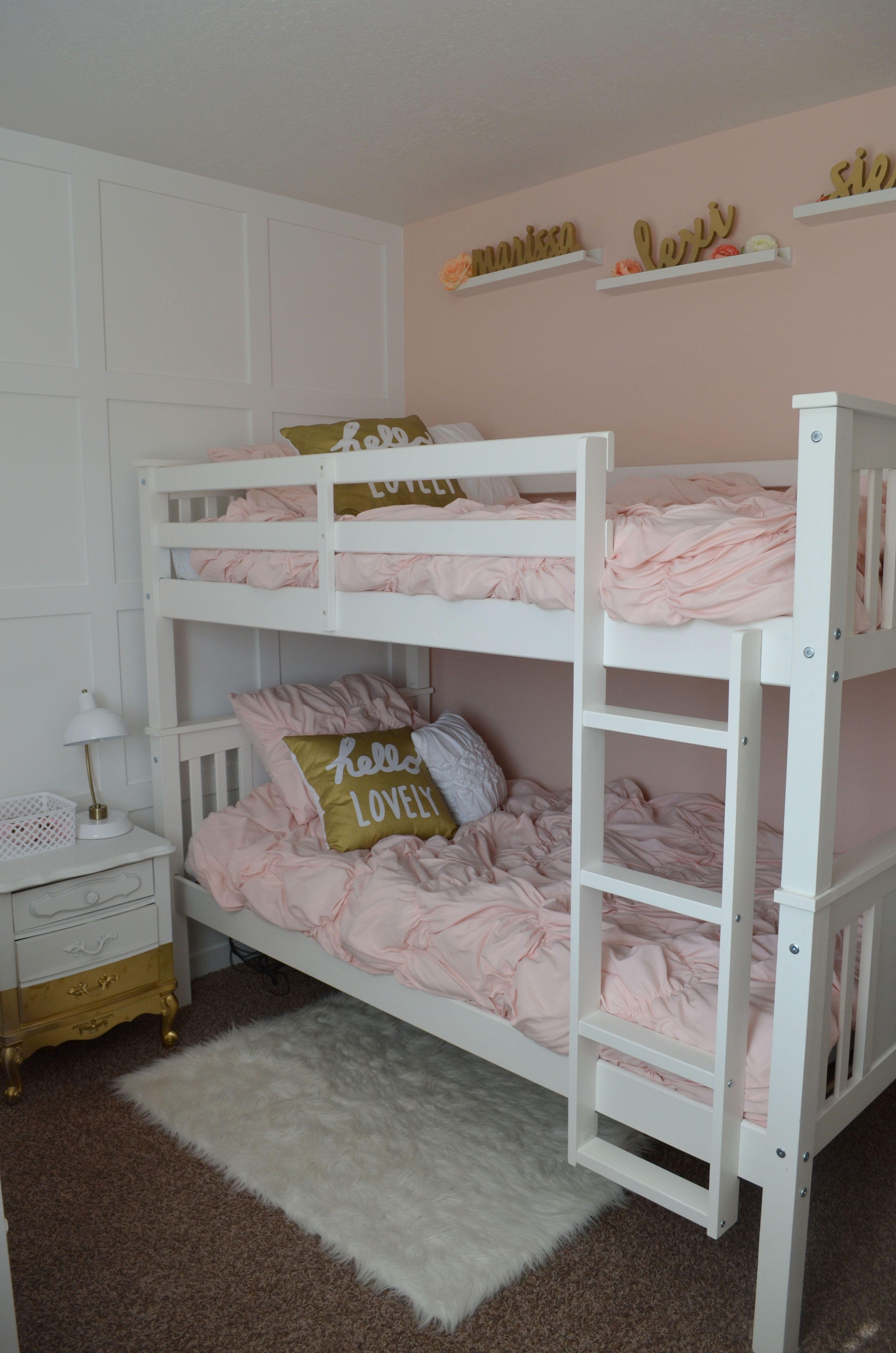 Peach Pink Gold Vintage Modern Girl S Room Nursery Reveal