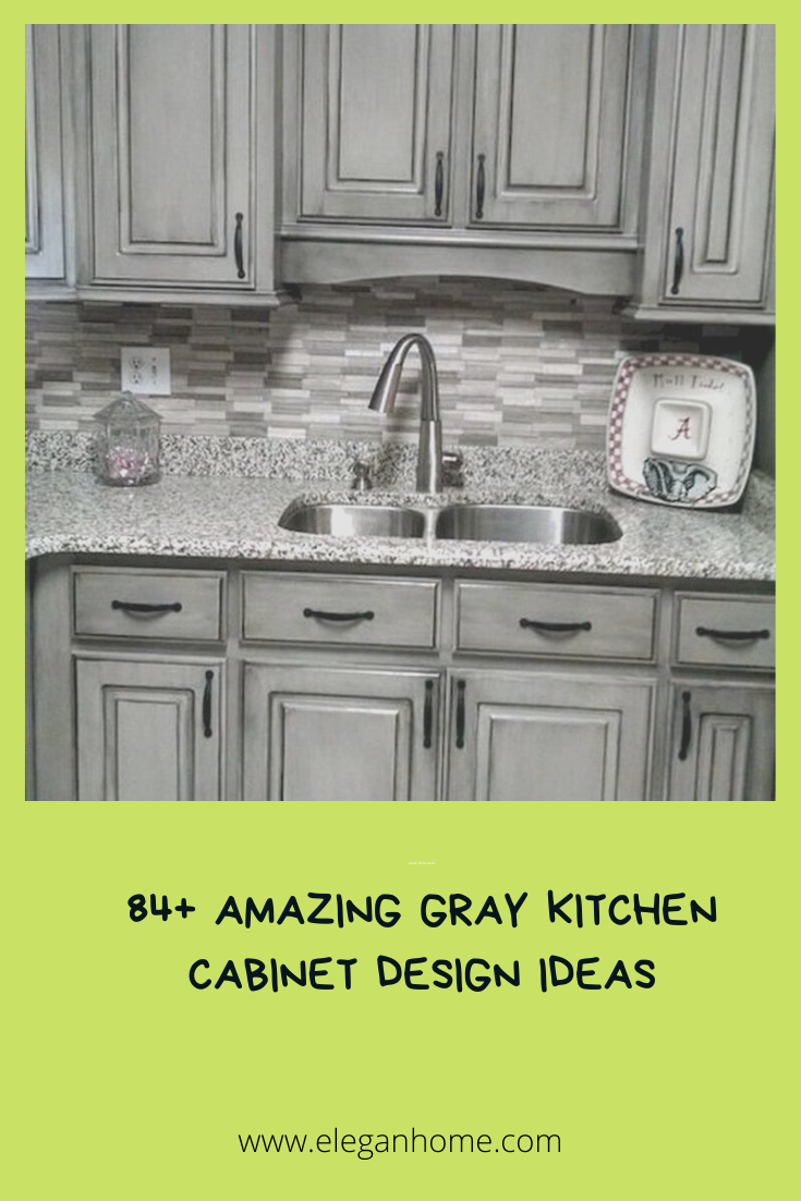 84 Amazing Gray Kitchen Cabinet Design Ideas In 2020 Kitchen Cabinet Design Grey Kitchen Cabinets Kitchen Cabinets