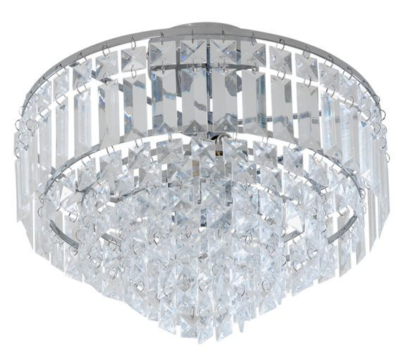 Home Olivia 3 Light Ceiling Ing Clear Chrome