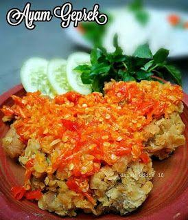 Resep Ayam Geprek Super Pedas By Dhiahoddie Resep Ayam Resep Masakan Resep