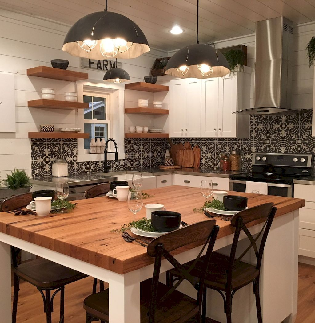 100 Stunning Farmhouse Kitchen Ideas On A Budget (43