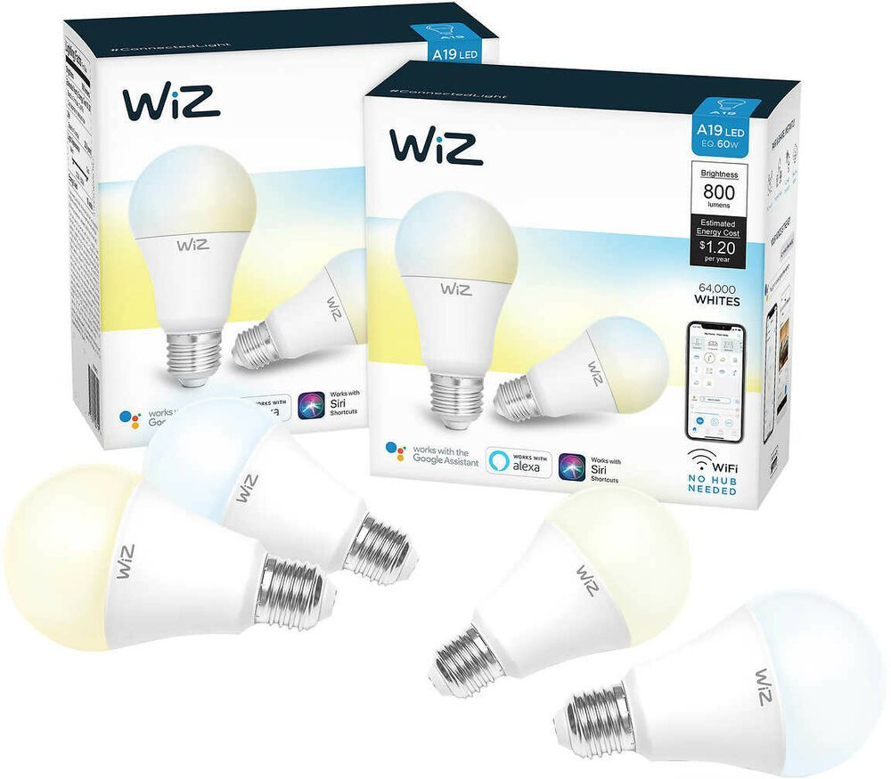 4 Pack Wifi Smart Bulb Voice Control With Alexa Ebay Smart Bulb Smart Bulbs Bulb