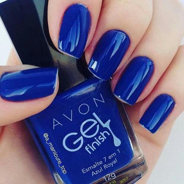 Esmalte gel avon. Azul royal! Lindoooo   nailwear gel   Pinterest ...