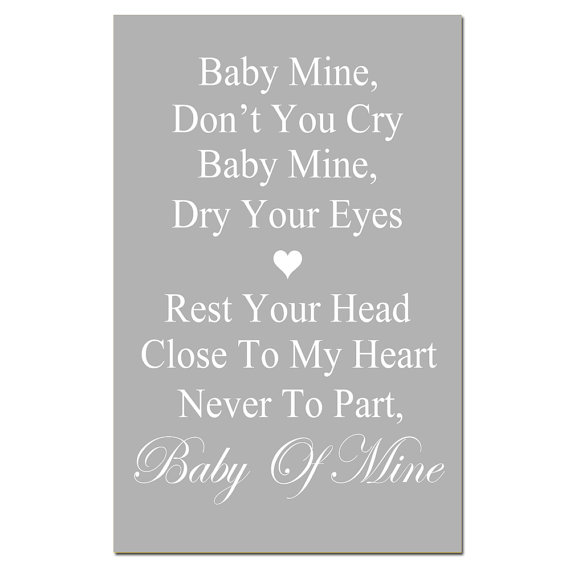 Blue Eyed Baby Girl Quotes: 13x19 Nursery Art Print
