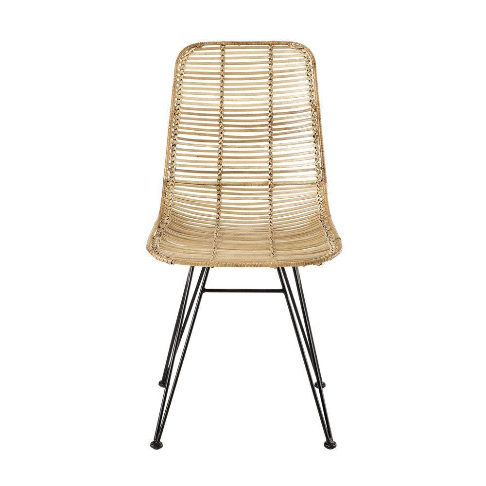 Chaise en rotin et métal | Maisons du Monde | Fr | Pinterest ...