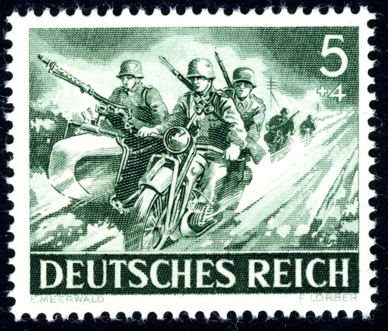 1943 Dotacion De Una Motocicleta Bmw R 75 Fuerzas Armadas