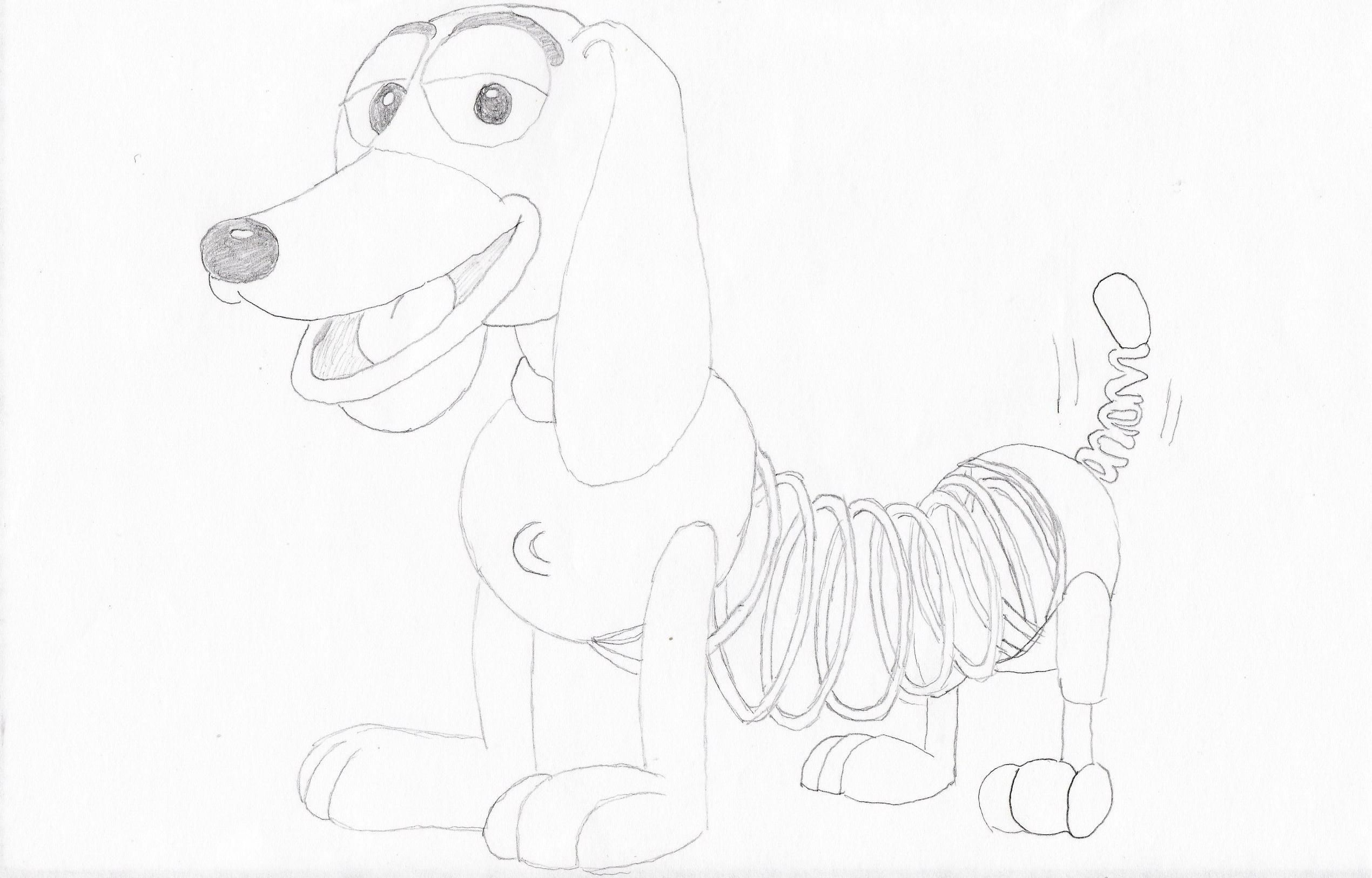 Slinky Dog Toy Story Drawings Sketches Artwork