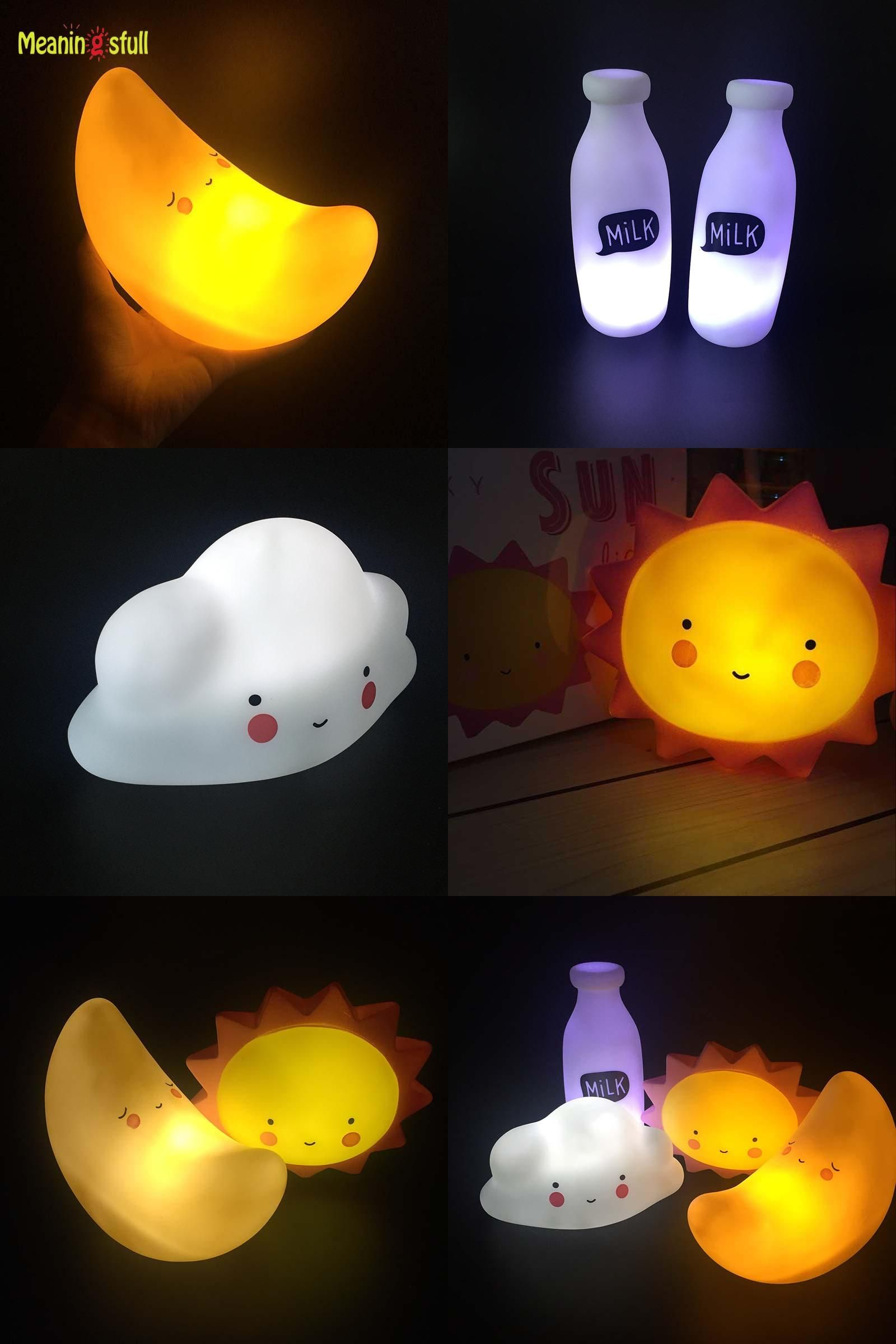 Visit To Buy Novelty Smile Face Cartoon Moon Led Night Light Sun Cloud Night Lamps Kids Baby Bedside Light Chil Bedside Lighting Led Night Light Night Lamps