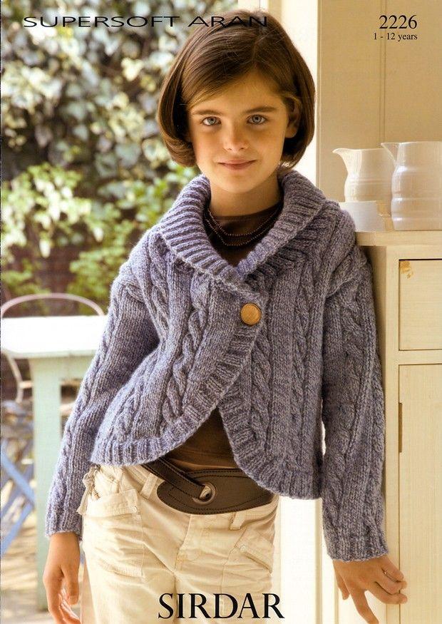 Jackets in Sirdar Supersoft Aran (2226)   Girls Knitting Patterns ...
