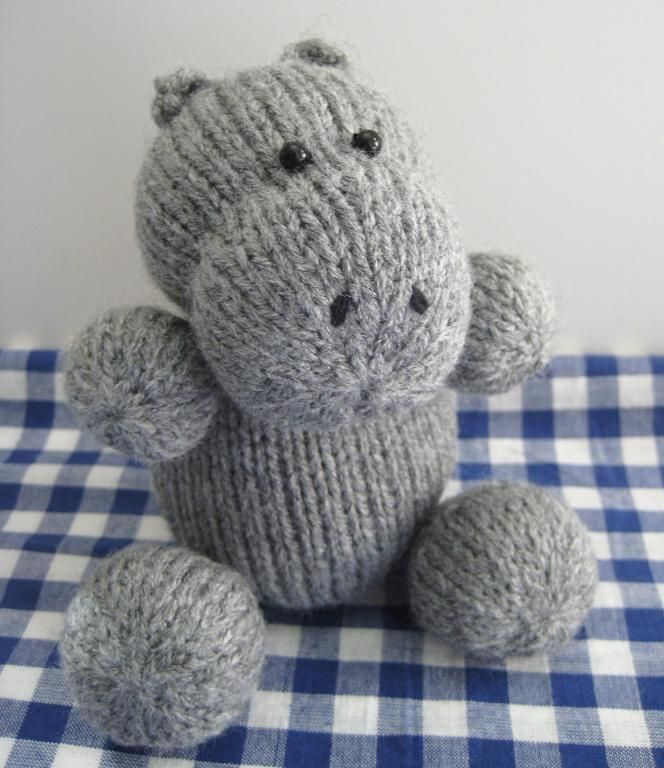 Huggins the Hippo toy knitting pattern | Knit and crochet animals ...