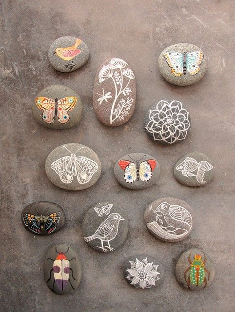 paint rocks to add to your interior decor or I think I might put some in our garden this year