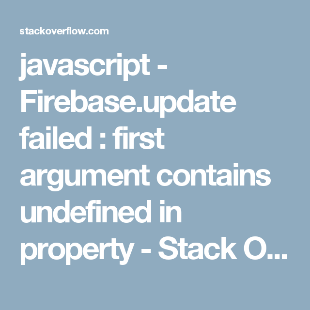 javascript - Firebase update failed : first argument