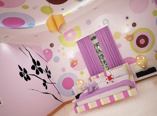 Gambar Dari Warna Cat Kamar Tidur Anak Gadis Polkadot Gambar