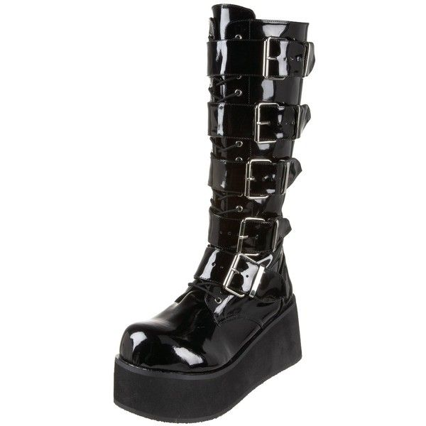 Demonia by Pleaser Men's Trashville-518 Goth Boot ❤ liked on Polyvore  featuring men's fashion, men's shoes, men's boots, shoes, boots, men, black,  goth, ...