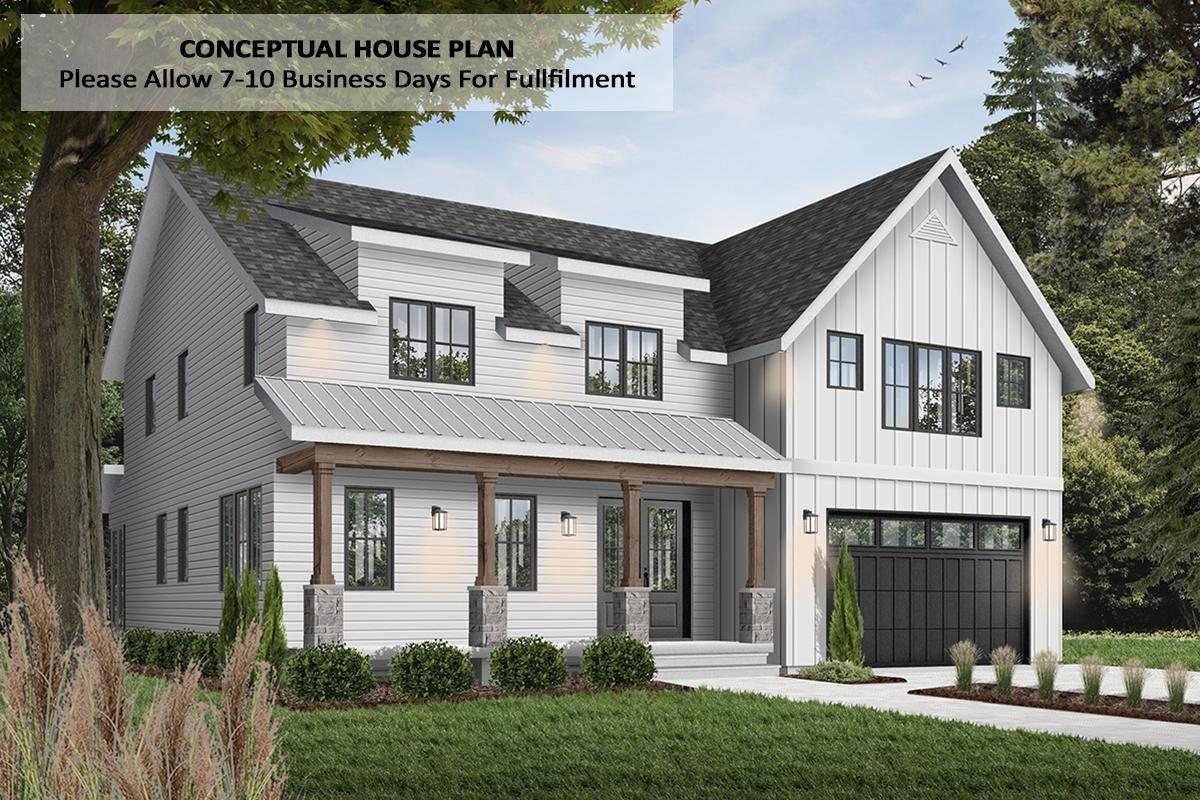 Plan 22532dr Split Bedroom Modern Farmhouse Plan With Main Floor Master Vozeli Com