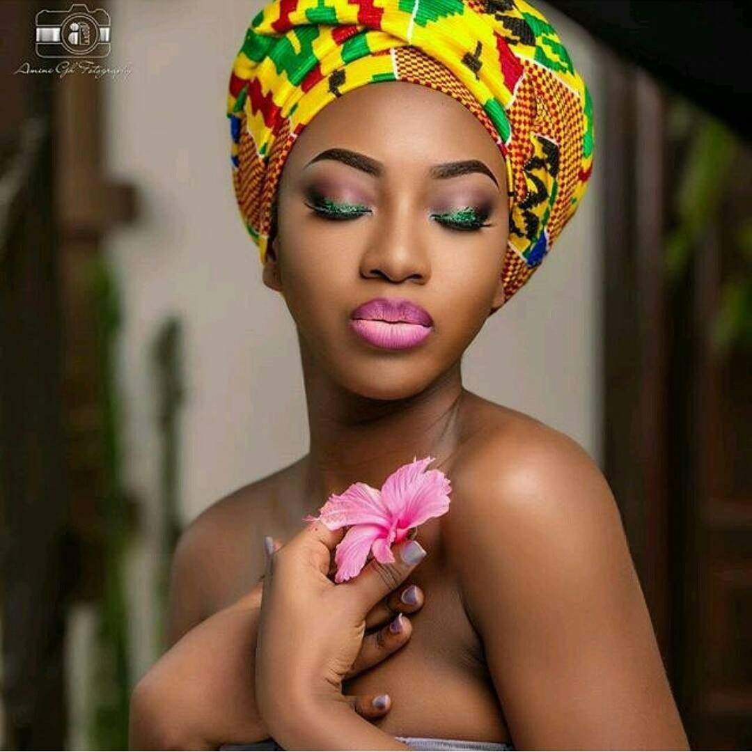 Kente Queen Headwraps Headscarves African Turbans Ajua Kente Queen Green Yellow Headscarve Akisi Kente Queen Pink  Blue Headscarve