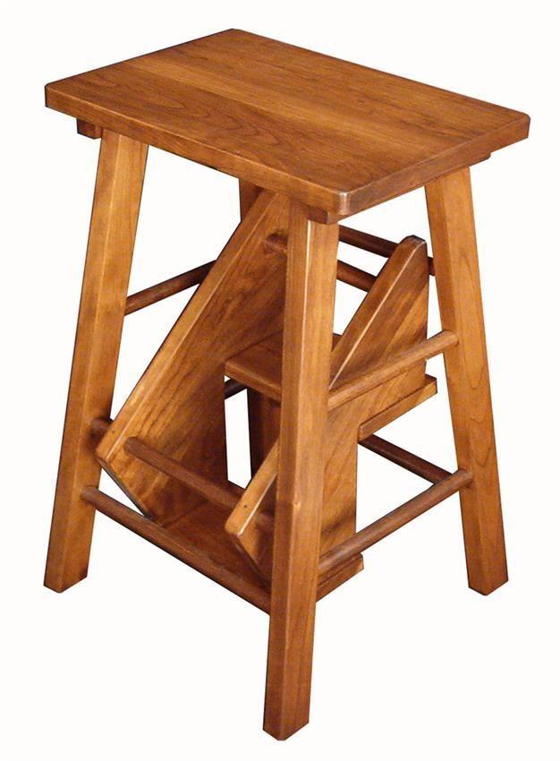 Amish Hardwood Folding Step Stool #MadeinUSA #MadeinAmerica