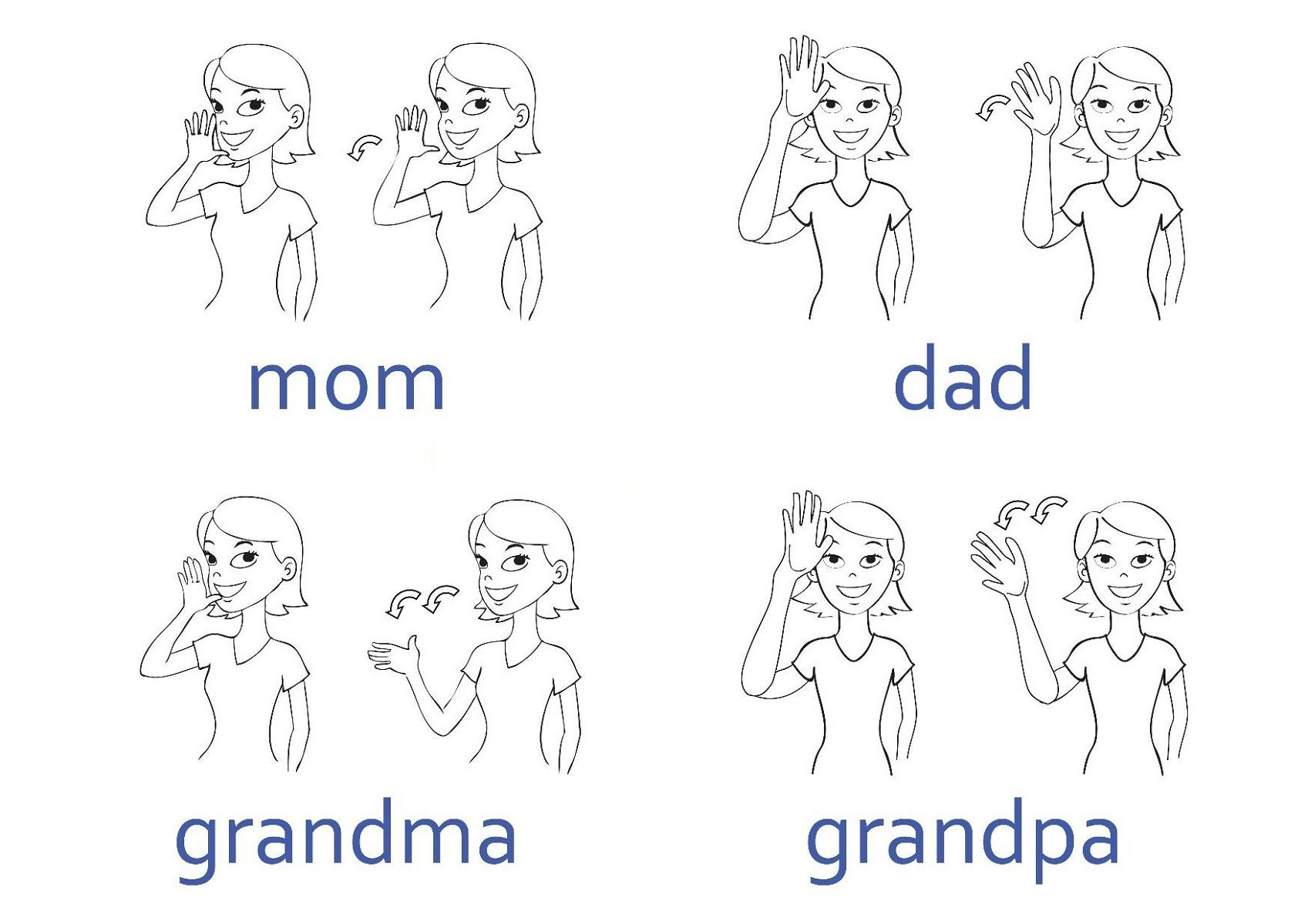 picture relating to Sign Language Phrases Printable known as Printable Signal Language Charts Signal Language Chart Indication
