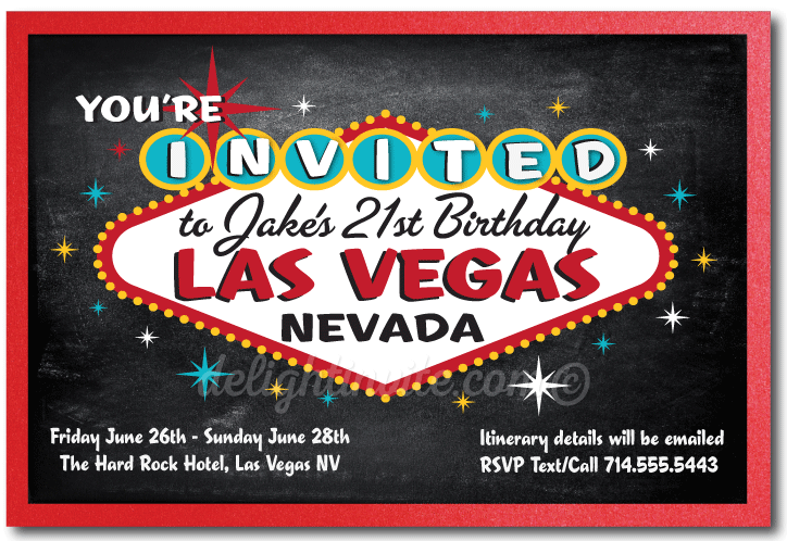 Las Vegas 21st Birthday Invitations Available At Boardman Printing