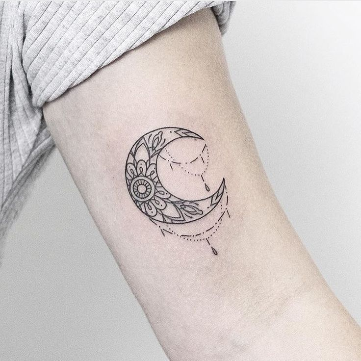 Sunflower Infused Crescent Moon Figure Out More By Clicking The Image Link Learn More At Https W Moon Tattoo Designs Cresent Moon Tattoo Moon Tattoo