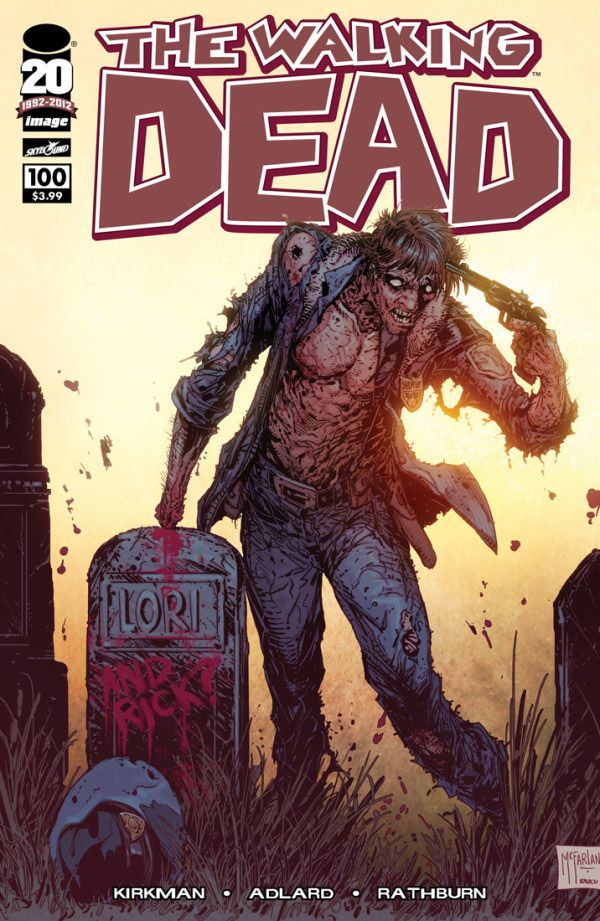 The Walking Dead Issue 100 Variant Cover Art From Todd Mcfarlane