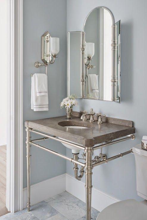 reu architects bathroom paint color is benjamin moore silver gray kallista vanity sink