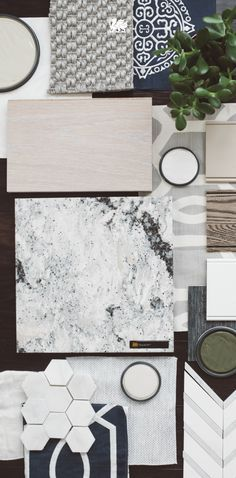 You can almost hear the crashing waves on a rocky coastline when you pair Seagrove:tm: with neutral greens and grays. Click to see more #design inspiration. Designed by: StudioM Interiors, @studiomatmingle