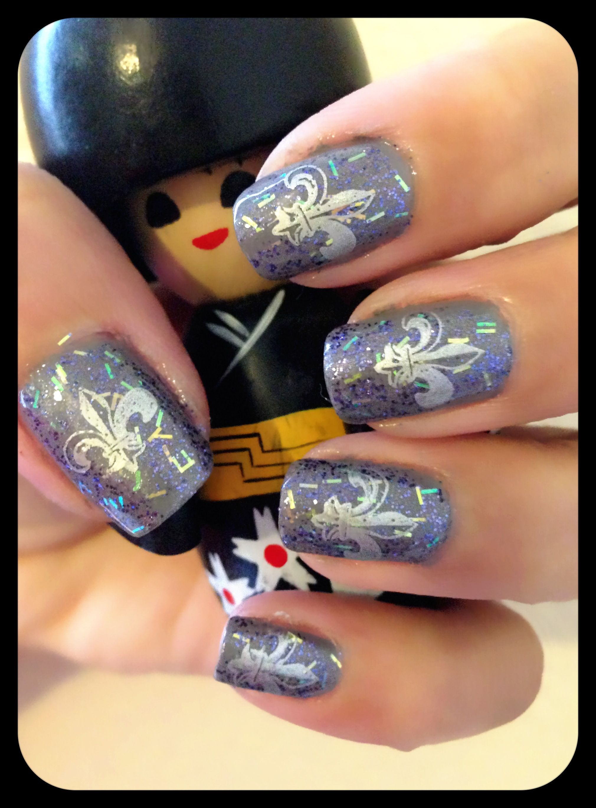Nail Stamping. Fleur De Lis from plate 35 of the Mash Nails plate ...