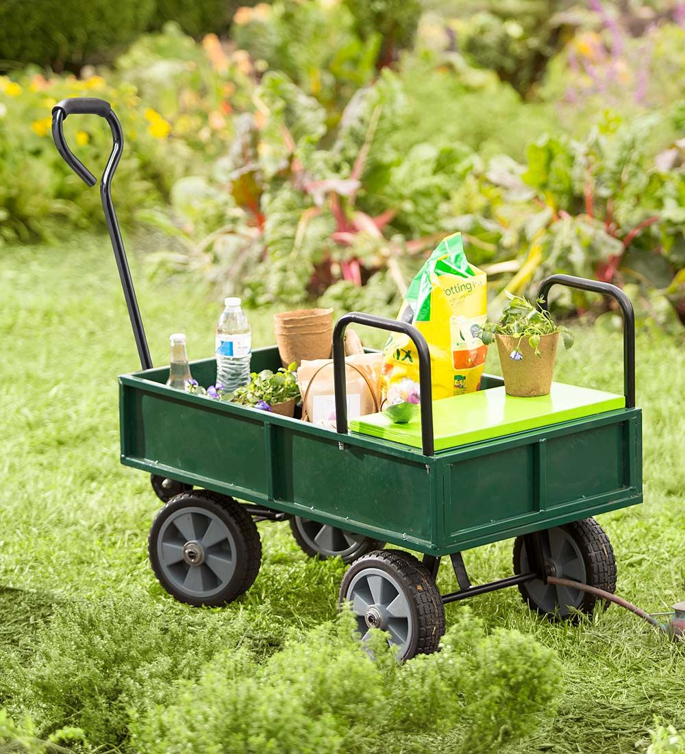 Garden Cart With Built In Seat | Garden Tools | We LOVE This Little Wagon