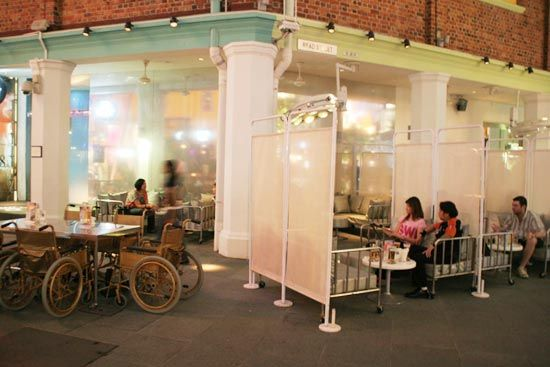 Clinic Themed Restaurant In Singapore Bar Design Restaurant Home Restaurant Bar