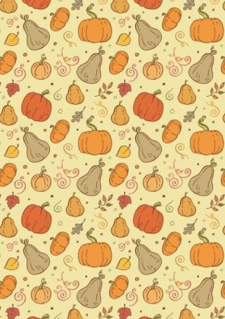 Autumn Harvest Printable Scrapbook Paper - Many different styles to