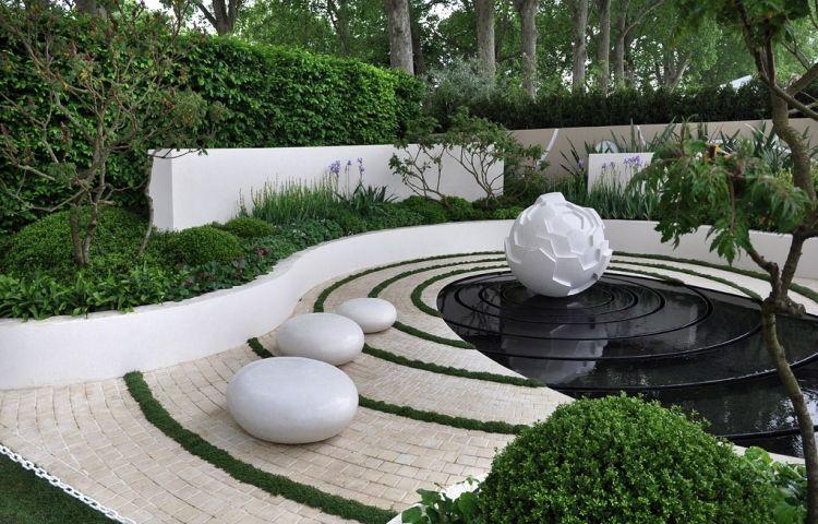 comment aménager son jardin design avec des galets décoratifs ...