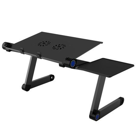 Adjustable Laptop Stand Folding Portable Standing Desk Riser Tablet Holder Tray