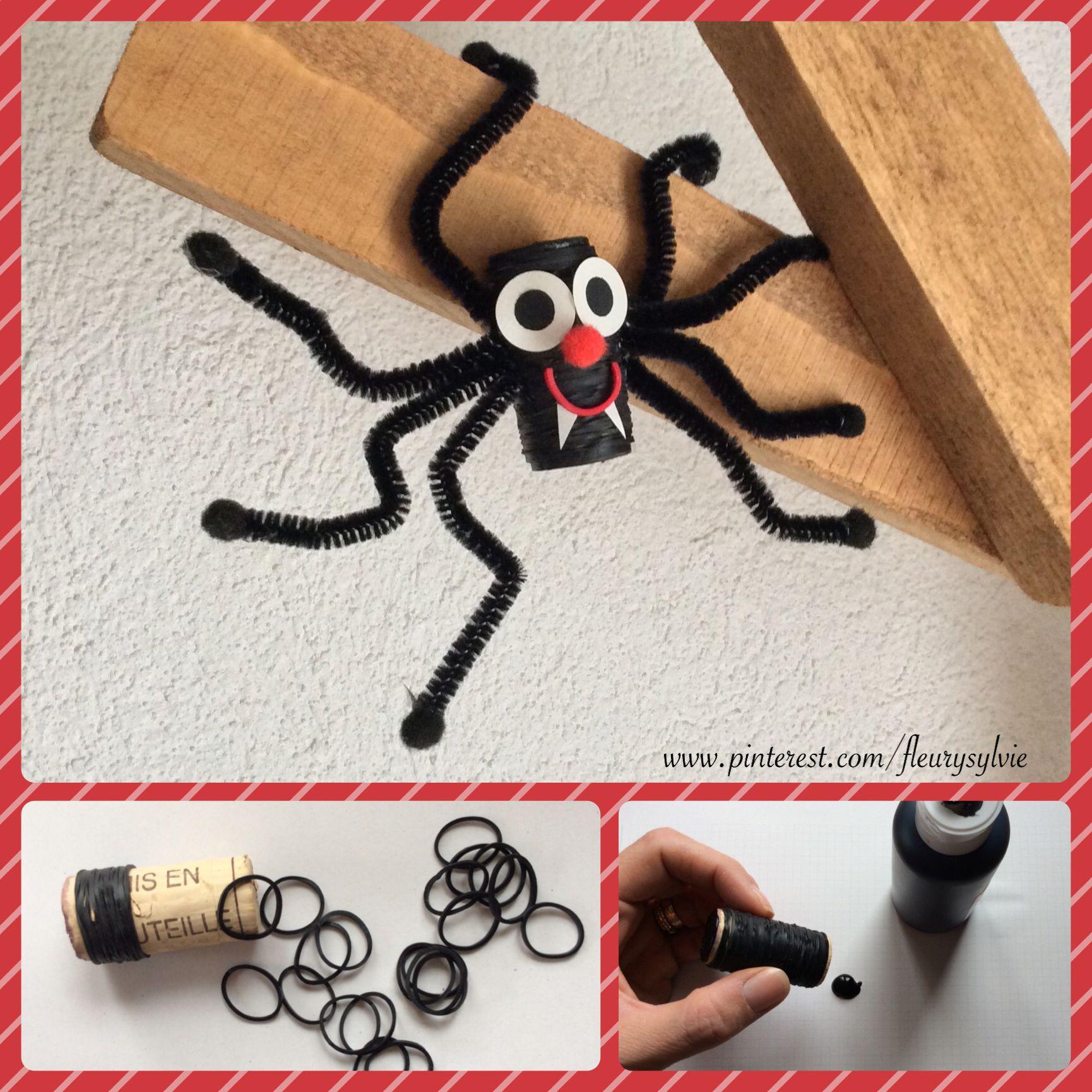 bricolage halloween enfant araign e rainbow loom. Black Bedroom Furniture Sets. Home Design Ideas